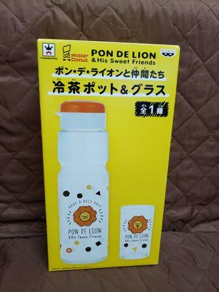 PON DE LION & His Sweet Friends 玻璃水樽連水杯