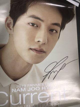 Autographed Nam Joo Hyuk Poster