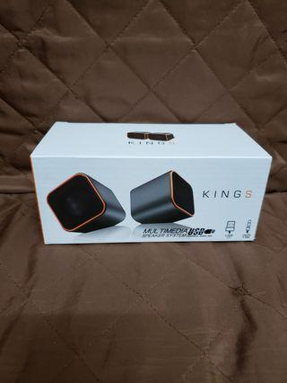 KINGS MULTIMEDIA SPEAKER SYSTEM USB