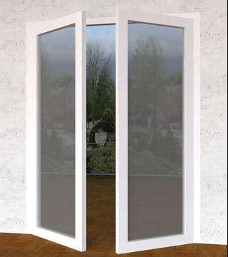 Pintu double swing/kupu-kupu Upvc