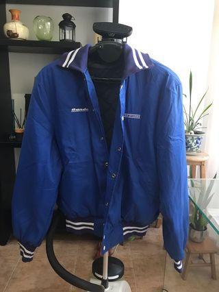 Vintage Bomber Blue Sports Jacket