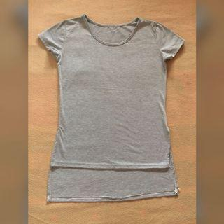 Long Back Gray Shirt