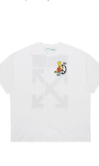 💧OFF WHITE BART SIMPSONS PEACE TEE💧 * price reduced *