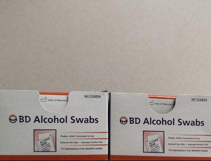 🚚 BD ALCOHOL swabs