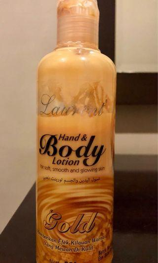 gold body lotion