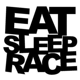 Eat·Sleep·Race [Car Decal / Sticker Vinyl] (Free Mailing!)