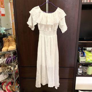 長身裙 white dress #summer19