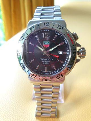 Tag Heuer Formular1 Black Dial Steel Mens Quartz 40mm