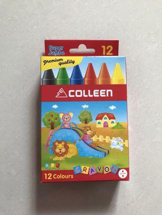 BN Super Jumbo Colour Crayons (Colleen 12 Colours Crayons)