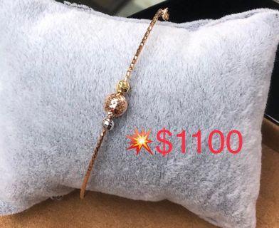 18k 白金/🌹金手链💎 #推荐礼物款!小價位🉑🉐