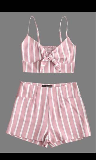 🚚 Pink stripe shorts