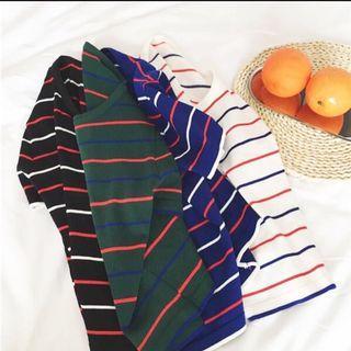 🚚 韓版條紋T恤