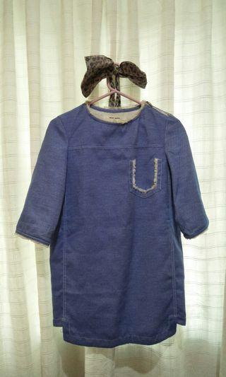 Korean Styled Dress - Blue