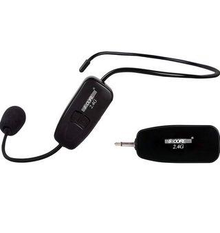Wireless headset microphone. Rechargeable