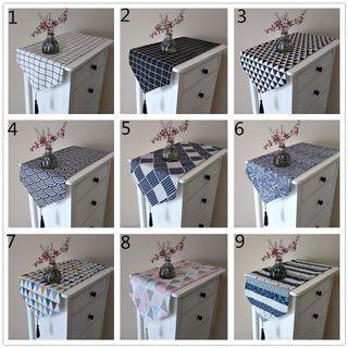 [MANY SIZES] modern geometric waves table runner flag cloth