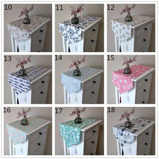 [MANY SIZES] geometric floral table runner flag cloth