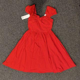 Belle poque - vintage inspired red dress - size S