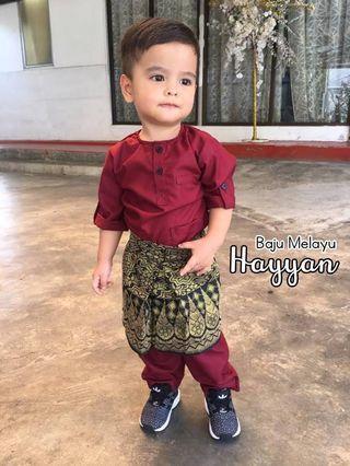 Baju Melayu Hayyan Murah Warna Maroon