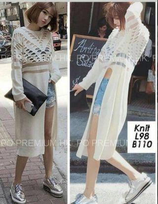 Knit offwhite korean top outer