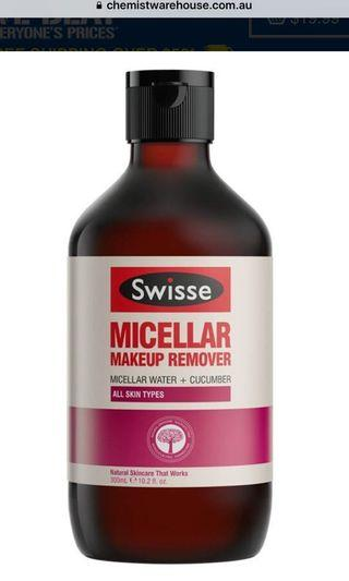 🇦🇺Swisse 天然溫和免洗卸妝水 Face Micellar Water Make Up Remover (300ml)