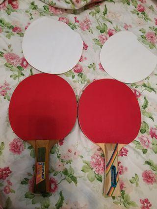 乒乓球拍×2