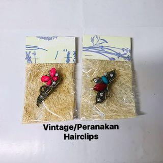 Hair clips. Vintage. Peranakan. Hairclips. A set of 2 hairclips. MAIL ONLY ITEM.