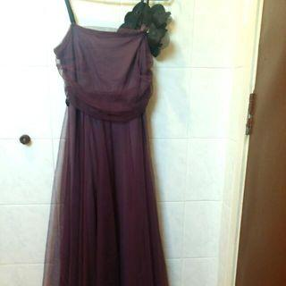 Purple Knee-Length Evening Gown / Prom Dress