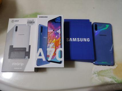 近全新Samsung A70 藍色 保固到明年5/6