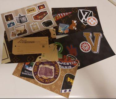 Louis Vuitton HK Time Capsule Stickers (LV HK Time Capsule 活動紀念貼紙)