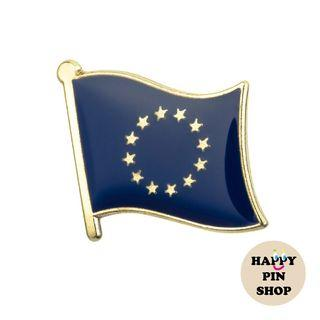 European Union (EU) Flag Pin - Collar Pin, Lapel Pin Badge