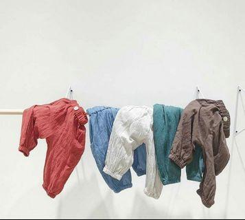 🚚 男嬰 嬰幼兒 防蚊長褲 清爽長褲