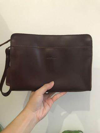 Extreme Original 100% Leather Brown Clutch Bag