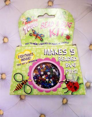 🆕️Bead a bug kit with colourful glass beads