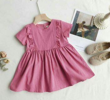 🚚 女嬰 莓果色 洋裝