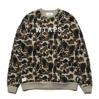 Wtaps Design crewneck College sweatshirt sweater camo olive