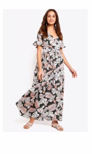 ZALORA wrap maxi dress size M