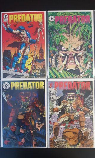 4-Part Special Mini-Series: Predator #1,2,3,4 (1989 1st Series) 1st Appearance of Predator! Awesome Classic Collector Editions!