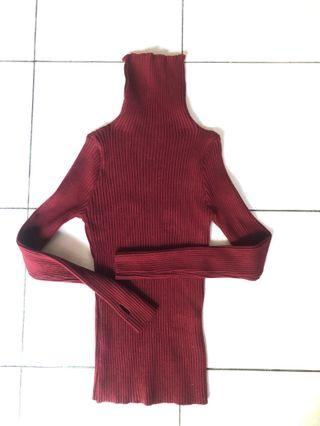 Turtle Neck Knitted
