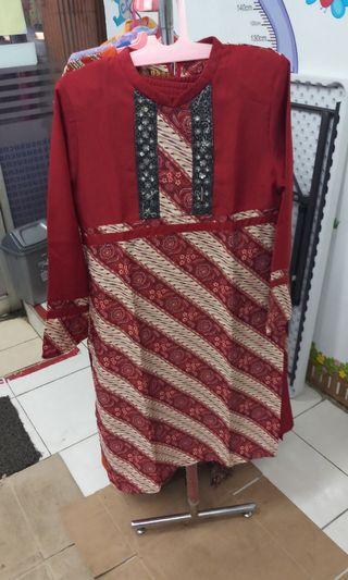 Dress Batik atas bawah #bapau
