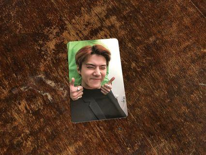 EXO LOVE SHOT SEHUN LOVE VERSION PHOTOCARD