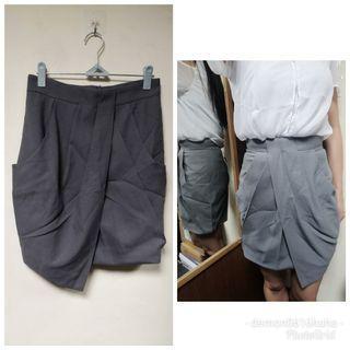全新 灰色斯人層次OL返工半身裙 見工裙 grey work skirt