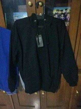 hoodie polos hitam