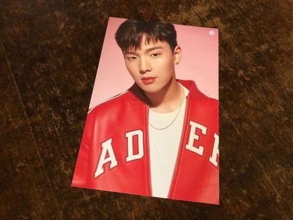MONSTA X TONYMOLY SHOWNU LIP TINT POSTCARD (DAMAGED)