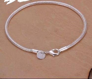 20cm Silver Bracelet Snake Chain Bracelet