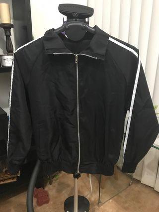 Black Track Suit White Stripes Jacket