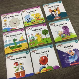 Scholastic First Little Comics Level E & F, 9 books