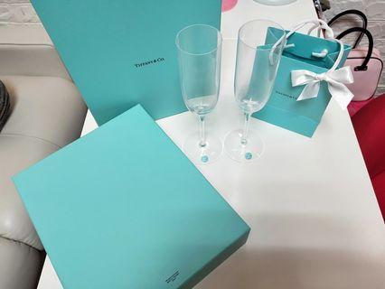 🚚 Tiffany 真品頂級水晶香檳對杯組