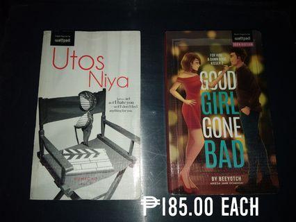 Wattpad Books for Php 185 each (Good Girl Gone Bad, Utos Niya)