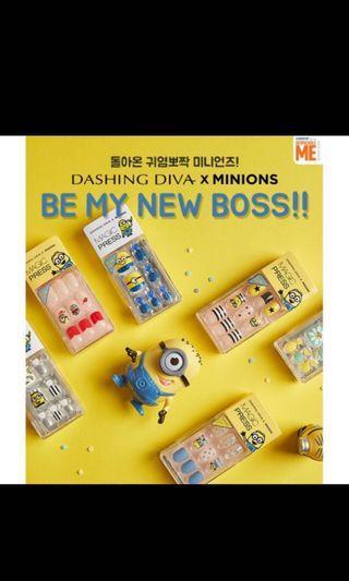 DASHING DIVA Minions限量聯名 美甲貼片