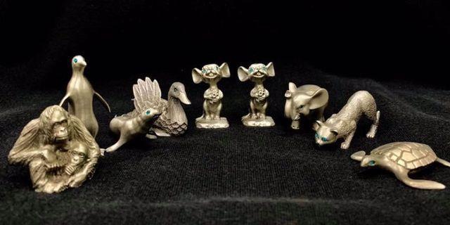 Genuine pewter figurines